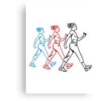 walking go, girls, women Canvas Print