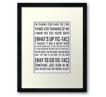 Ant-Man Quotes Framed Print