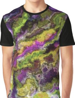 Colorful Artistic Abstract Paint Swirls Art Pattern Graphic T-Shirt