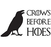 Crows before hoes! Photographic Print