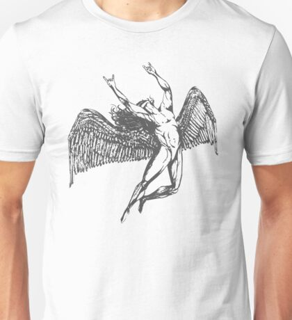 ICARUS THROWS THE HORNS - grey Unisex T-Shirt