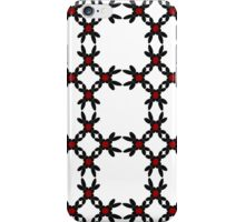 All-over Swirls of Black + White + Red iPhone Case/Skin