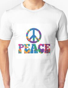 colorful Peace text design. Unisex T-Shirt