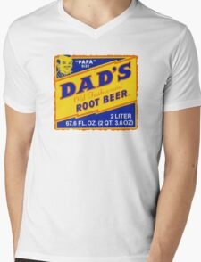 DAD'S ROOT BEER Mens V-Neck T-Shirt