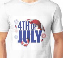 4th of July design Unisex T-Shirt