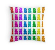 RAINBOW GUMMY BEARS Throw Pillow