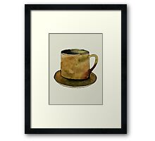 Mug on Plate Framed Print