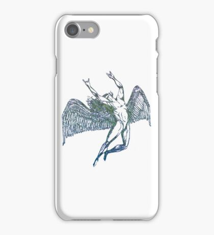 ICARUS THROWS THE HORNS - crumpled druid iPhone Case/Skin