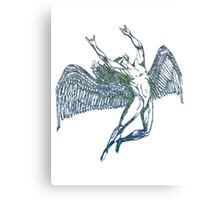 ICARUS THROWS THE HORNS - crumpled druid Canvas Print