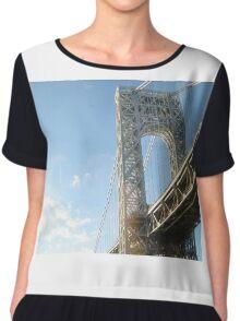 George Washington Bridge Chiffon Top
