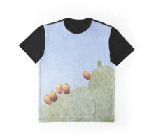 Prickly Pear Cactus with Fruits Graphic T-Shirt