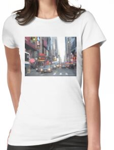 New York City Street Womens Fitted T-Shirt