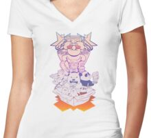We Bare Fantasy Women's Fitted V-Neck T-Shirt