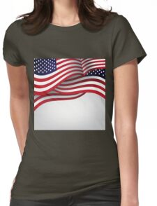 American flag illustration Womens Fitted T-Shirt