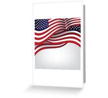 American flag illustration Greeting Card
