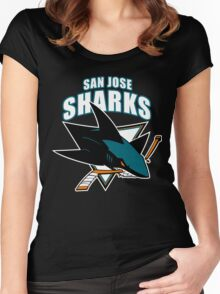 Sharks On Fire Women's Fitted Scoop T-Shirt