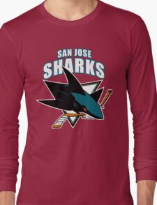 Sharks On Fire Long Sleeve T-Shirt