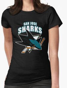 Sharks On Fire Womens Fitted T-Shirt