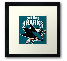 Sharks On Fire Framed Print