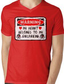Heart Belongs To Girlfriend Mens V-Neck T-Shirt