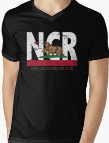 New California Republic Mens V-Neck T-Shirt