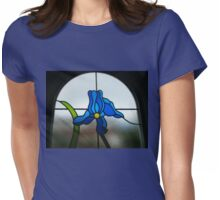 Funky Blue Flower Womens Fitted T-Shirt