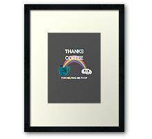Thank You Coffee Framed Print