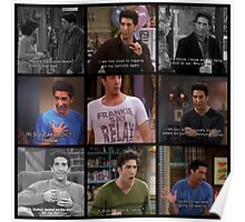 Ross Geller Quotes Collage #1 Poster