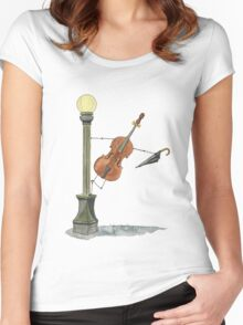 Bassy in the Rain Women's Fitted Scoop T-Shirt