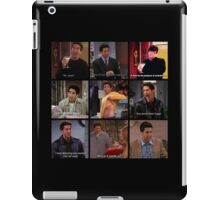 Ross Geller Quotes Collage #3 iPad Case/Skin