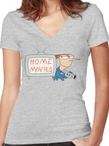 Home Movies Women's Fitted V-Neck T-Shirt