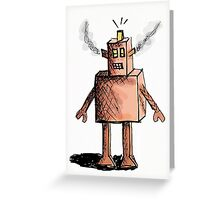 Rusty Tired Robot Greeting Card