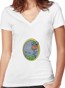 Hungry Plant Women's Fitted V-Neck T-Shirt