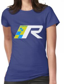Volvo R Design Racing Graphic WHT Womens Fitted T-Shirt