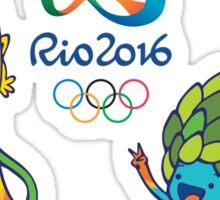 Vinicius and Tom, Rio 2016 mascots Sticker