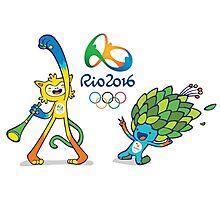 Vinicius and Tom, Rio 2016 mascots Photographic Print