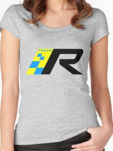 Volvo R Design Racing Graphic BLK Women's Fitted Scoop T-Shirt