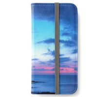 Tropical Island Pretty Pink Blue Sunset Landscape iPhone Wallet/Case/Skin