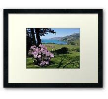 Garden View, Banks Peninsula, South Island, New Zealand. Framed Print