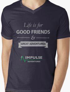 Good Friends & Great Adventures Mens V-Neck T-Shirt