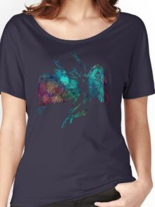ICARUS THROWS THE HORNS - monet waters Women's Relaxed Fit T-Shirt