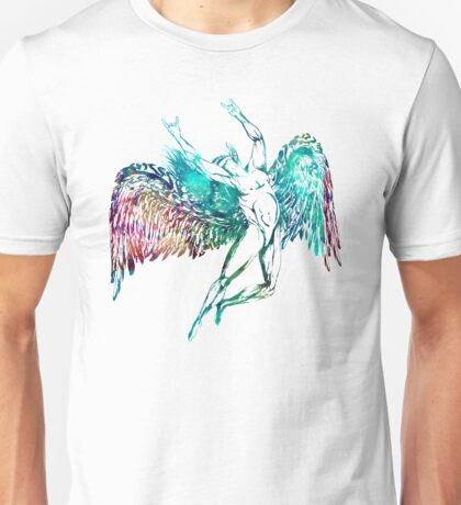 ICARUS THROWS THE HORNS - monet waters Unisex T-Shirt