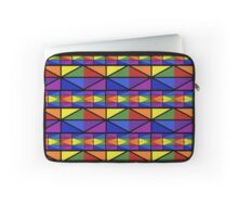Geometric Stained Glass Window Design Laptop Sleeve