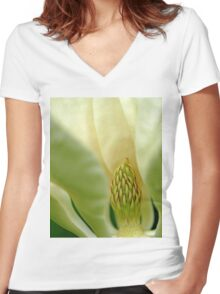 Heart Of The Magnolia Women's Fitted V-Neck T-Shirt