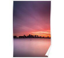 Boston Harbor Spring Sunset Poster