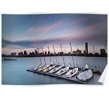 Sailing Pavilion on the Charles River Poster