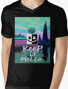 Trippy kEEp iT MeLLo Set Marshmello x Slushii Mens V-Neck T-Shirt