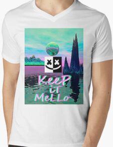 Trippy kEEp iT MeLLo Set Marshmello x Slushii Mens V-Neck T-Shirt