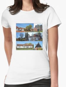 Cottages Collage Womens Fitted T-Shirt