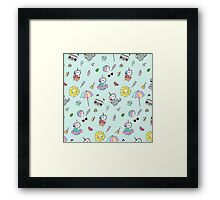 Summer Unicorn Pool Party Framed Print